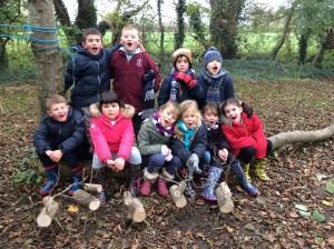 Forest School Group 2 Lower Stock farm Reindeer week 001